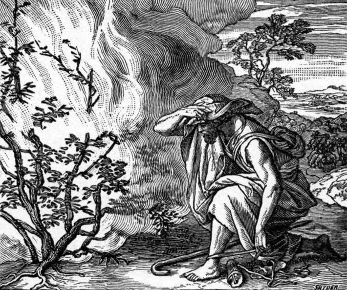 Fein Moses Und Der Brennende Busch Malvorlagen Zeitgenössisch ...