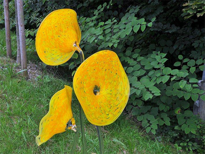 glasblumen - glaskunst, Garten ideen