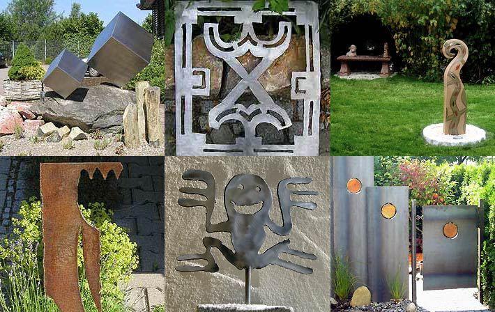 Stahlobjekte stahlskulpturen stahlfiguren for Metallskulpturen garten
